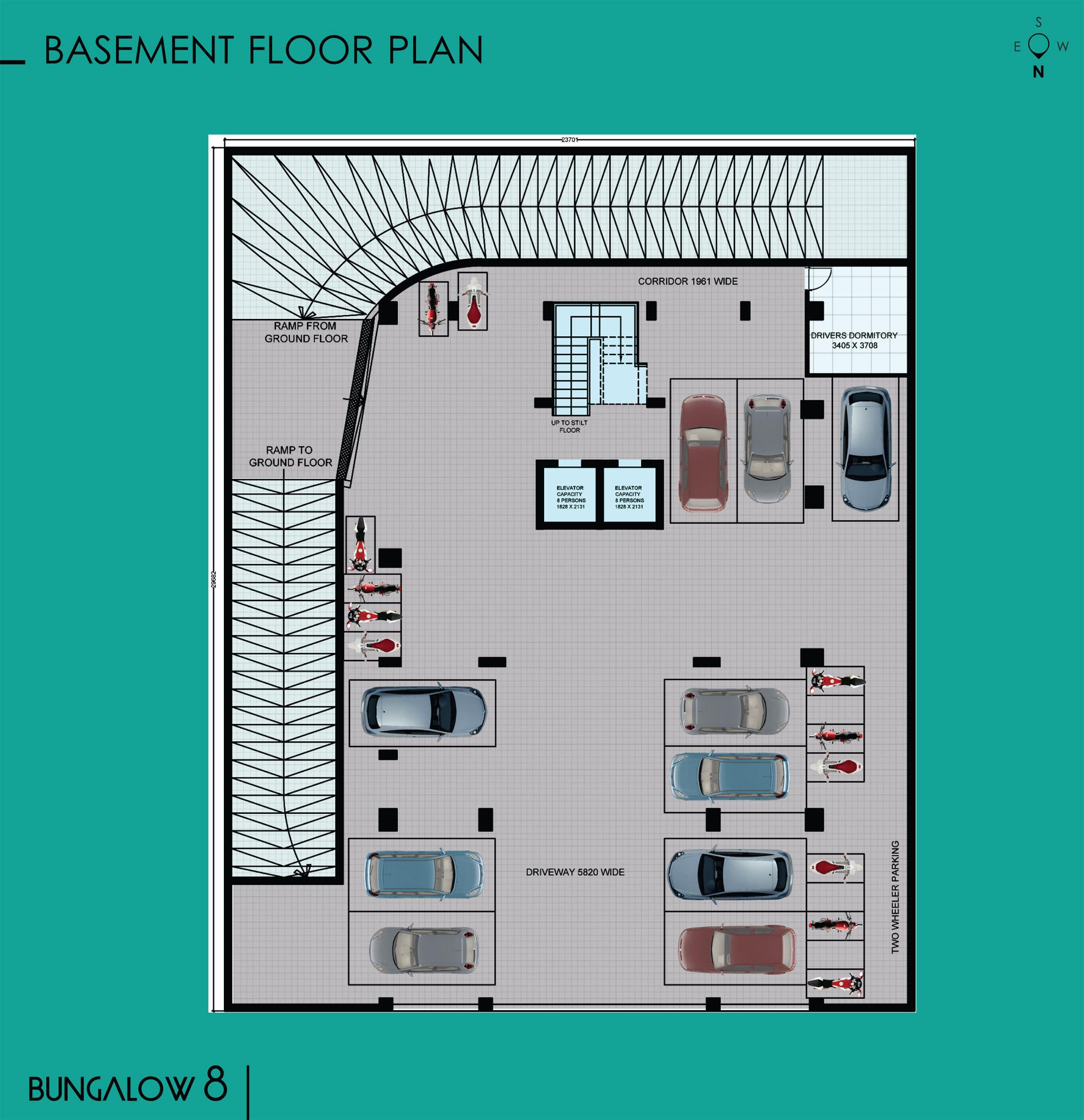 Ridhiraj builders for Bungalow basement floor plans